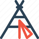 forest, house, outdoor, tent, tracking, travel, wildlife icon