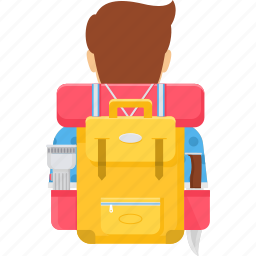 backpack, bag, baggage, luggage, suitcase, travel icon