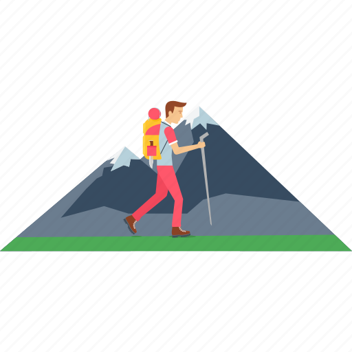 hill, image, mountain, outdoor, scene, walk, walking icon