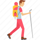activity, camp, camping, mission, outdoor, walk, walking icon
