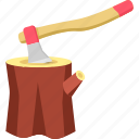 axe, building, cutter, sport, sports, wood icon
