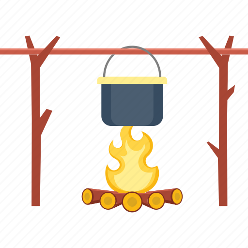 bonfire, camp, campfire, camping, fire, flame, outdoor icon