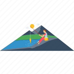 adventure, camp, fishing, image, images, photo, scenery icon