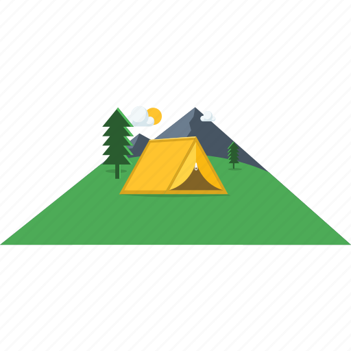 camp, camping, images, outdoor, scenery, tent, vacation icon