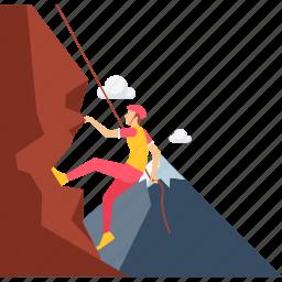 activity, climb, climbing, hill, mountain, outdoor, sports icon