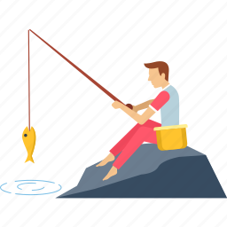 activity, adventure, camping, fish, fishing, seafood, trap icon