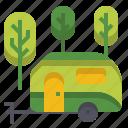 camper, camping, caravan, journey, trailer, travel, van icon