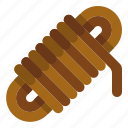 cable, cord, knot, rope, utensils icon