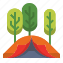 adventure, camp, equipment, hiking, outdoor, outdoors, tent icon