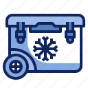 box, cold, container, cooler, drink, ice, refrigerator icon