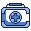 emergency, equipment, first aid kit, health, healthcare, medical, medicine icon