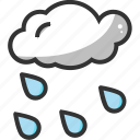 cloud, cloudy, forecast, rain, weather icon