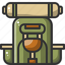 backpack, camping, outdoor, travel, trip, vacation icon