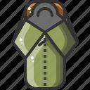 bag, bagcamping, camping, hiking, sleeping, travel, vacation icon