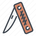 adventure, camp, knife, swiss, travel, weapon icon