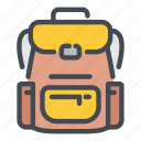 backpack, camp, camping, hike, hiking, outdoor, travel icon