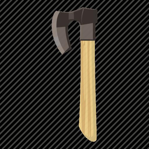 axe, blade, cartoon, equipment, handle, tool, wood icon