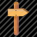 arrow, cartoon, direction, empty, information, post, road icon