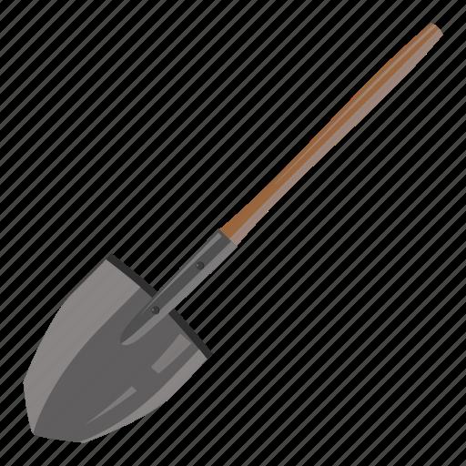 agriculture, cartoon, equipment, garden, gardening, metal, shovel icon