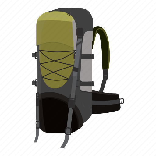 Adventure Backpack Bag Cartoon Hiking Tourism Travel Icon Download On Iconfinder