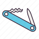 adventure, camping, cooking, kitchen, knife, pocketknife, tool icon