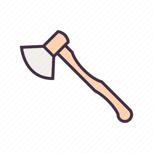 ax, axe, camping, travel icon