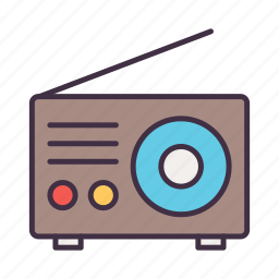 camping, communication, device, radio, signal, tent, tool icon