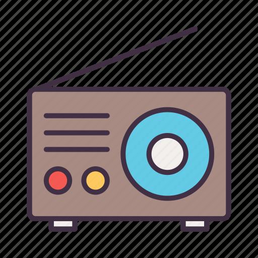camping, radio icon