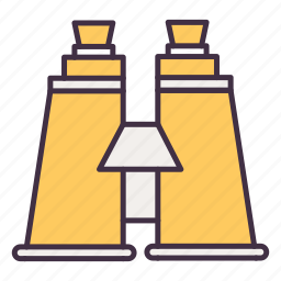 binocular, camping, glass, telescope, zoom icon
