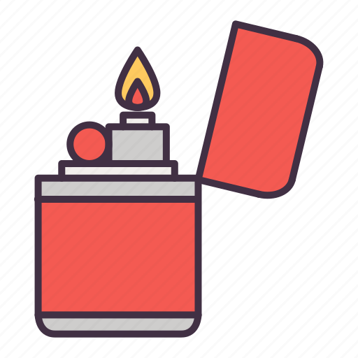 burn, camp, camping, flame, lighter, tool, travel icon