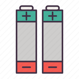 battery, camping icon
