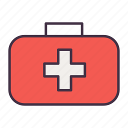 bag, camping, medcine icon