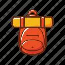 bag, bag packer, camping, orange, school, yellow