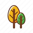 camping, environment, forest, green, leaves, nature, tree icon