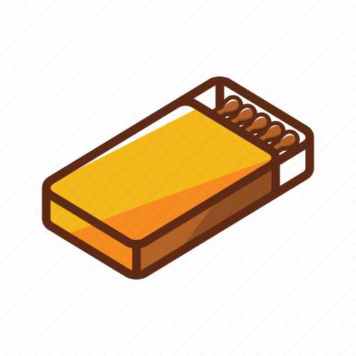 box, camping, cooking, fire, flame, hot, matchbox icon