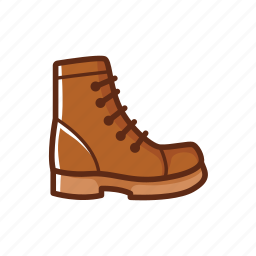 boot, camping, high, man, shoes icon