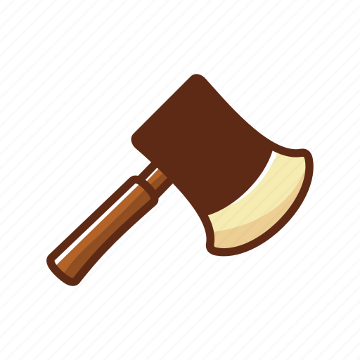 axe, camping, equipment, iron, tool, wood icon