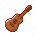 accoustic, camping, guitar, instrument, music, rock, song icon
