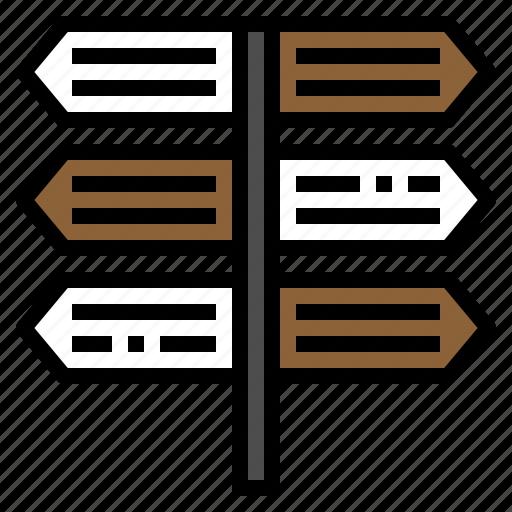 arrow, direction, navigator, sign, travel icon