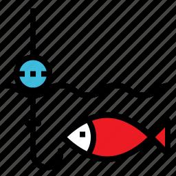 animal, fish, fishing, marine, rod icon