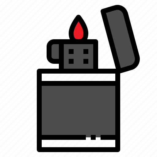 burn, fire, flame, lighter, tool icon