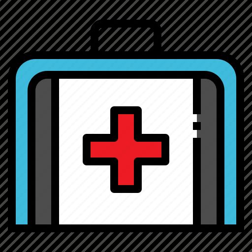 bag, cross, health, medicine, red icon