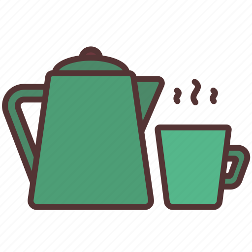 camp, coffee, cooking, drink, hot, kettle, pot icon