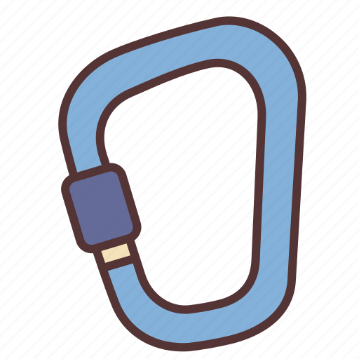 camp, camping, carabiner, hiking, outdoor, tool, travel icon