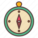 camping, compass, direction, map, navigation, tool, travel