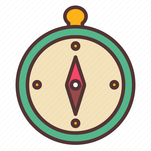 camping, compass, direction, map, navigation, tool, travel icon