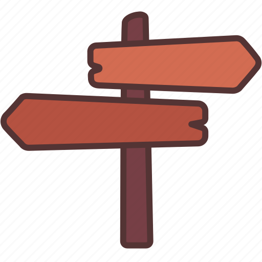 Direction, label, map, travel, wood icon - Download on Iconfinder