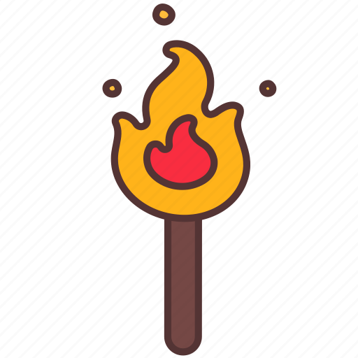 bonfire, camp, camping, fire, light, outdoor icon