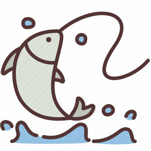 Fish, fishery, fishing, food, lifestyle, recreation, water icon - Download on Iconfinder