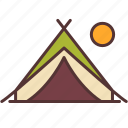 camp, camping, moon, outdoor, sleep, tent, travel